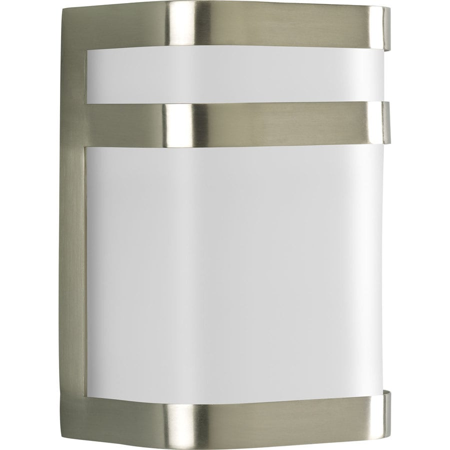 Progress Lighting Valera 8.12-in H Brushed Nickel Outdoor Wall Light
