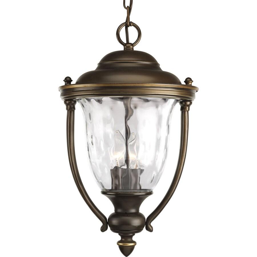 Progress Lighting Prestwick 17.75-in Oil rubbed bronze Hardwired Outdoor Pendant Light