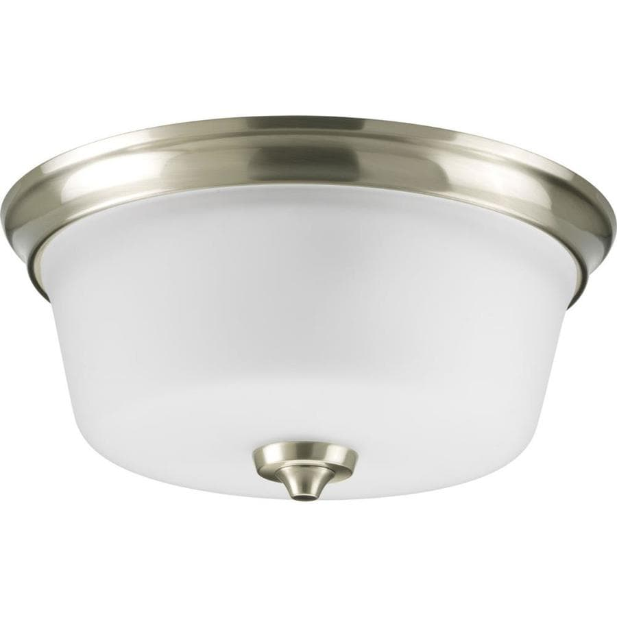 Progress Lighting Lahara 13-in W Brushed Nickel Ceiling Flush Mount Light