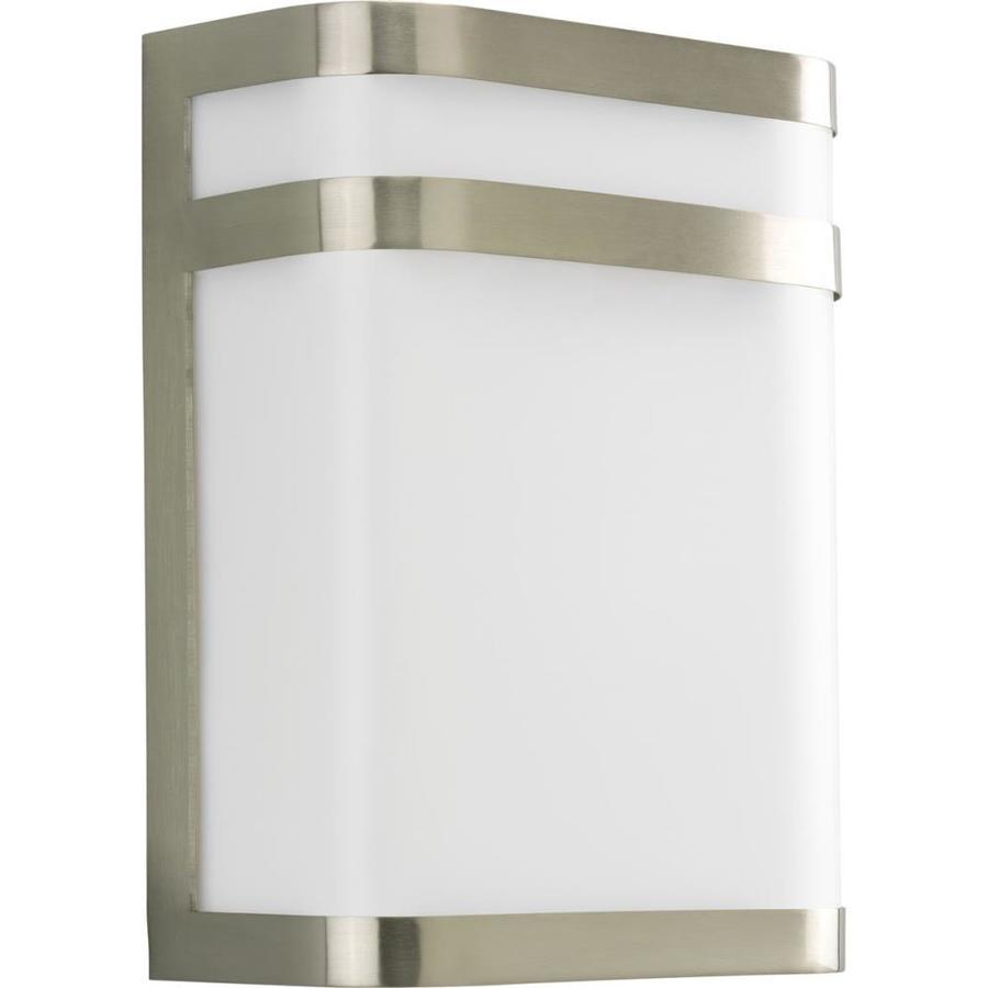 Progress Lighting Valera 11.12-in H Brushed Nickel Outdoor Wall Light
