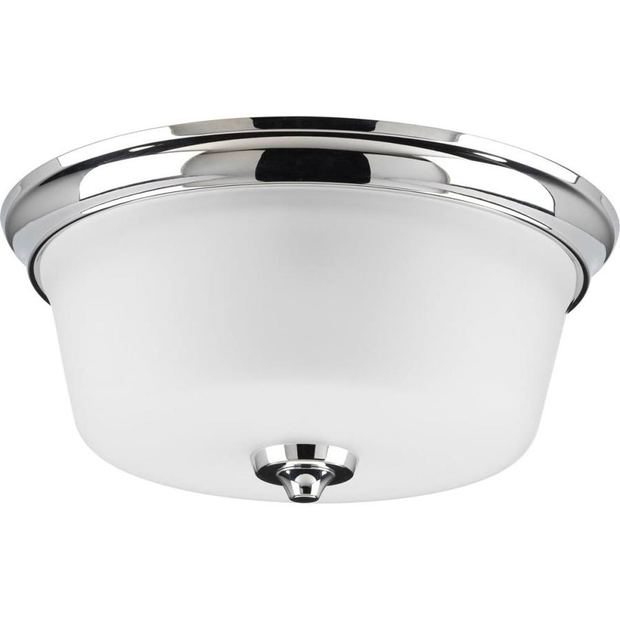 Progress Lighting Lahara 13-in W Chrome Flush Mount Light