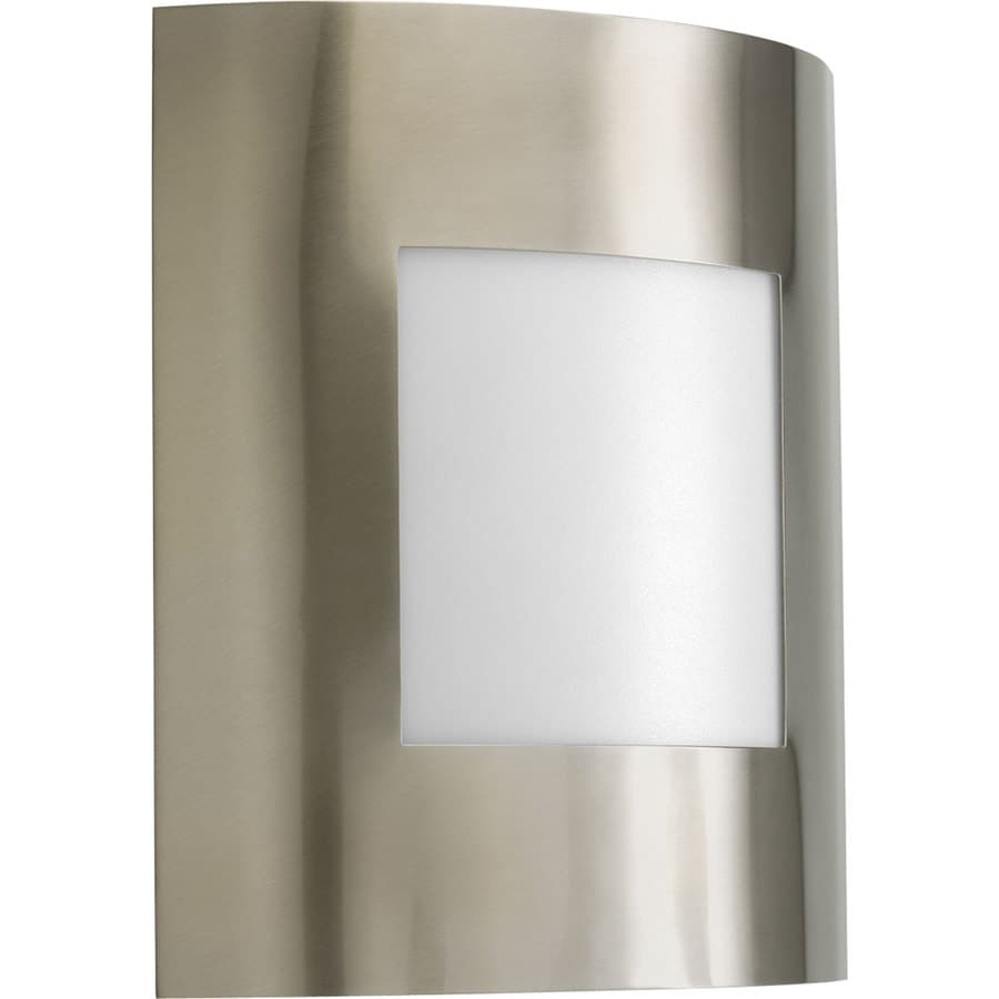 Progress Lighting Anson 10.25-in H Brushed Nickel Outdoor Wall Light