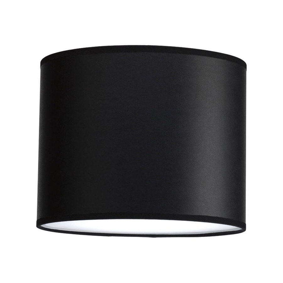 Progress Lighting Markor 8-in H 10-in W Black Parchment Cylinder Pendant Light Shade