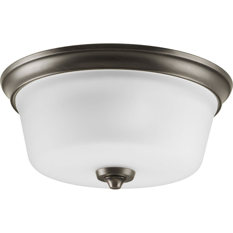Progress Lighting Lahara 13-in W Venetian Bronze Standard Flush Mount Light
