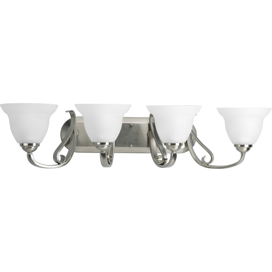 Progress Lighting Torino 4-Light 7.625-in Brushed nickel Bell Vanity Light