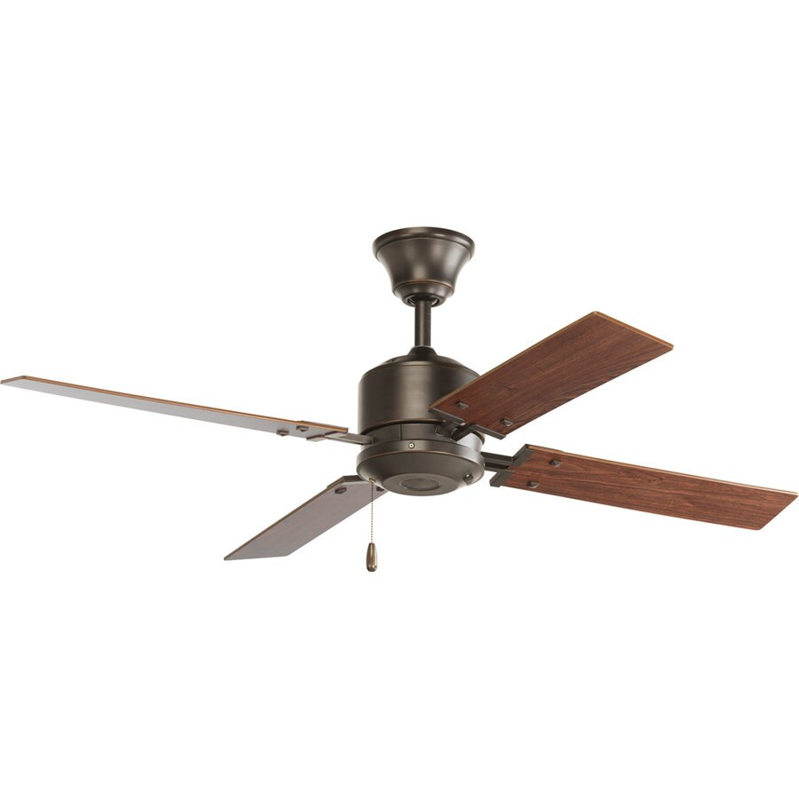 Progress Lighting North Park 52-in Antique Bronze Downrod or Close Mount Indoor Ceiling Fan (4-Blade) ENERGY STAR