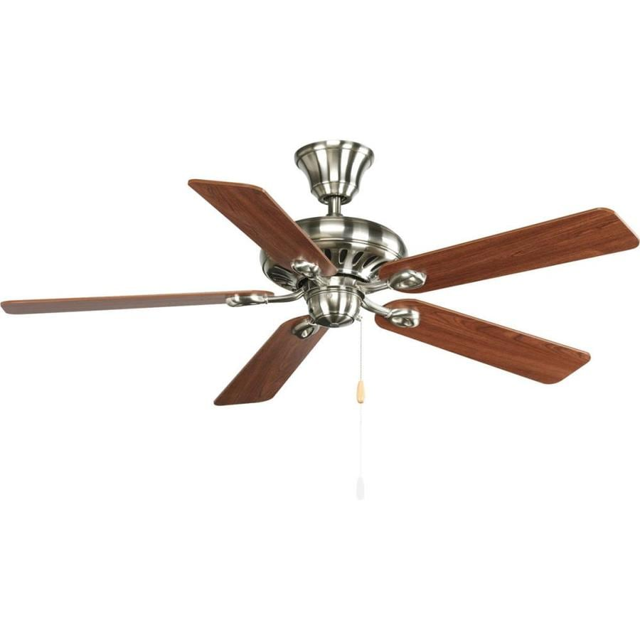 Progress Lighting AirPro Signature 52-in Brushed nickel Indoor Downrod Or Close Mount Ceiling Fan ENERGY STAR