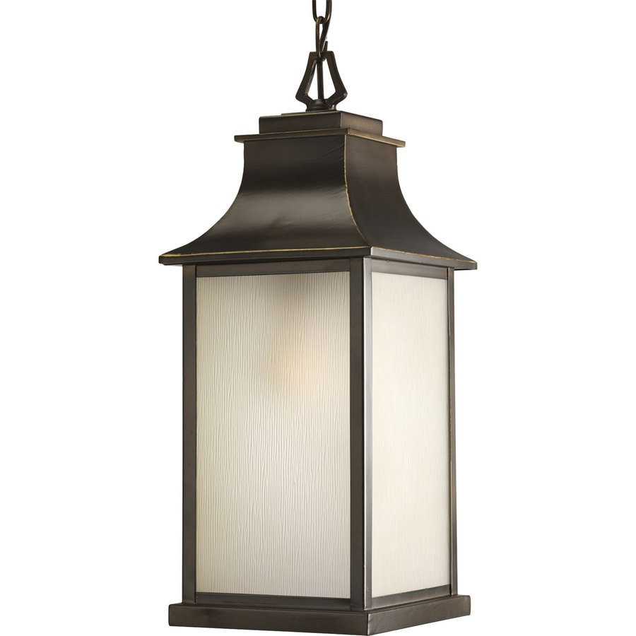 Progress Lighting Salute 20.62-in Oil-Rubbed Bronze Outdoor Pendant Light