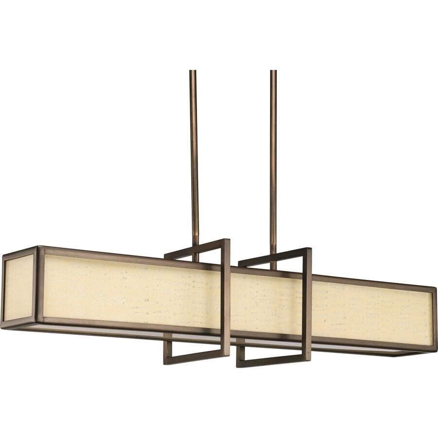 Progress Lighting Haven 34-in Copper Bronze Mini Geometric Pendant