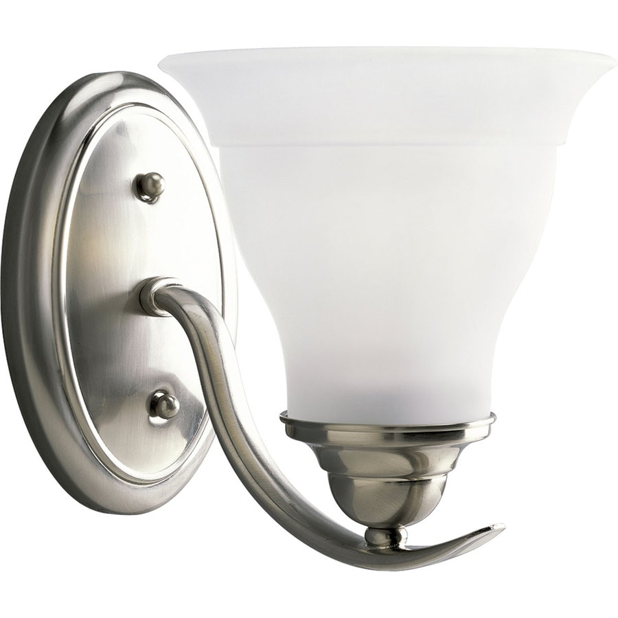 Shop Progress Lighting Trinity 1 Light 7 5 In Brushed Nickel Bell Vanity Ligh