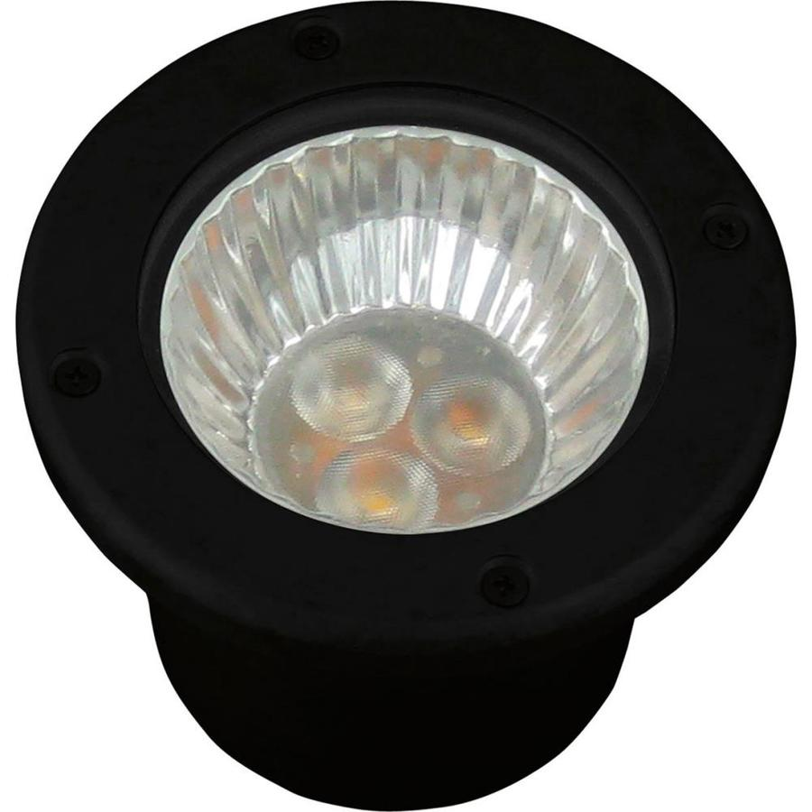 Progress Lighting 3-Watt Black Low Voltage Plug-In LED Well Light