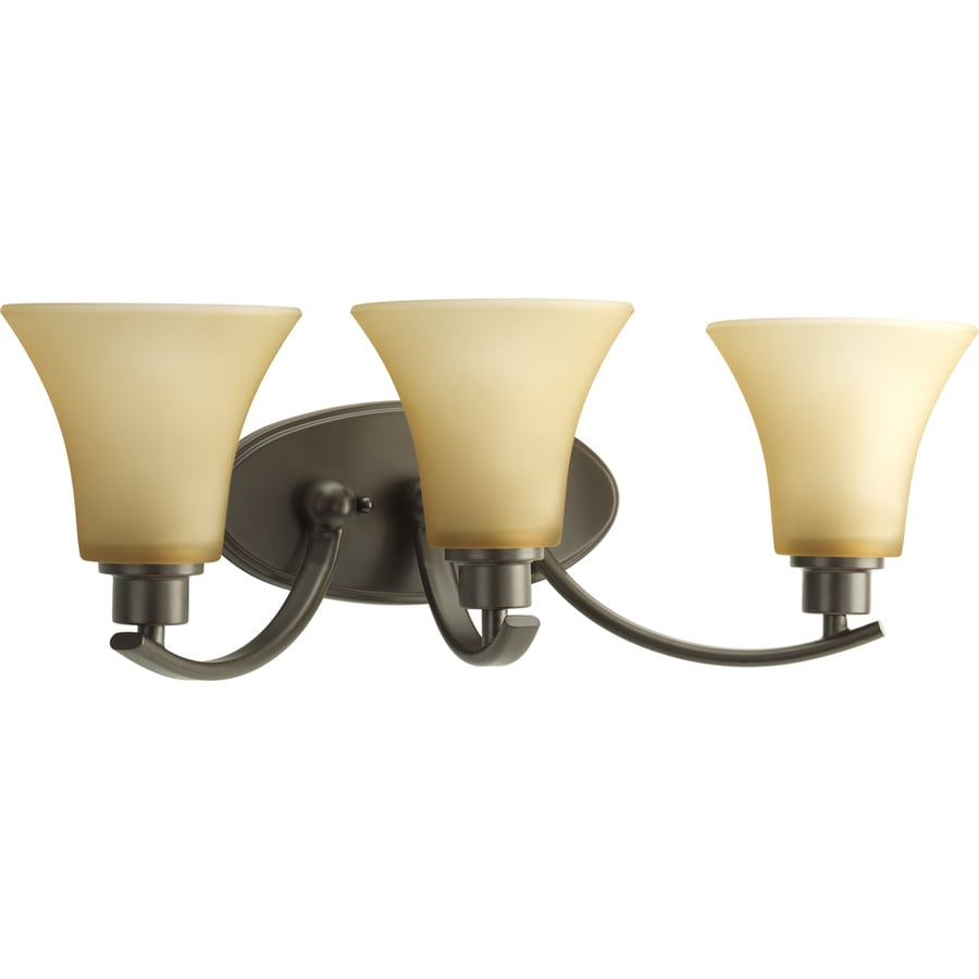 Progress Lighting Joy 3-Light 7.625-in Antique Bronze Bell Vanity Light
