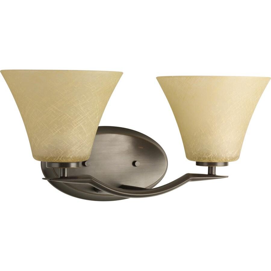 Progress Lighting Bravo 2-Light 8.5-in Antique bronze Bell Vanity Light