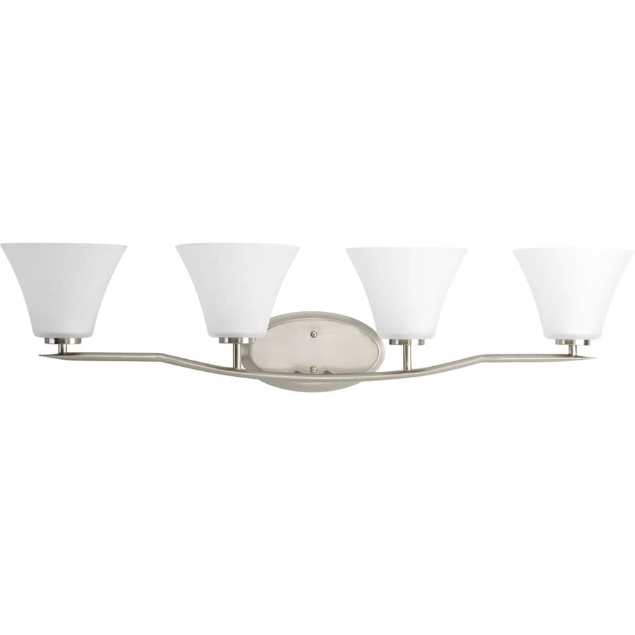 Progress Lighting Bravo 4-Light 9-in Brushed nickel Bell Vanity Light