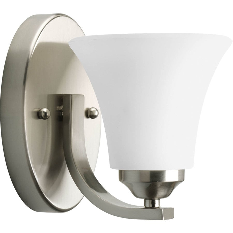 Progress Lighting Adorn 1-Light 6.75-in Brushed Nickel Bell Vanity Light