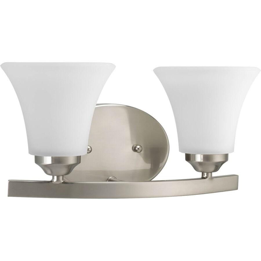 Progress Lighting Adorn 2-Light 6.625-in Brushed nickel Bell Vanity Light