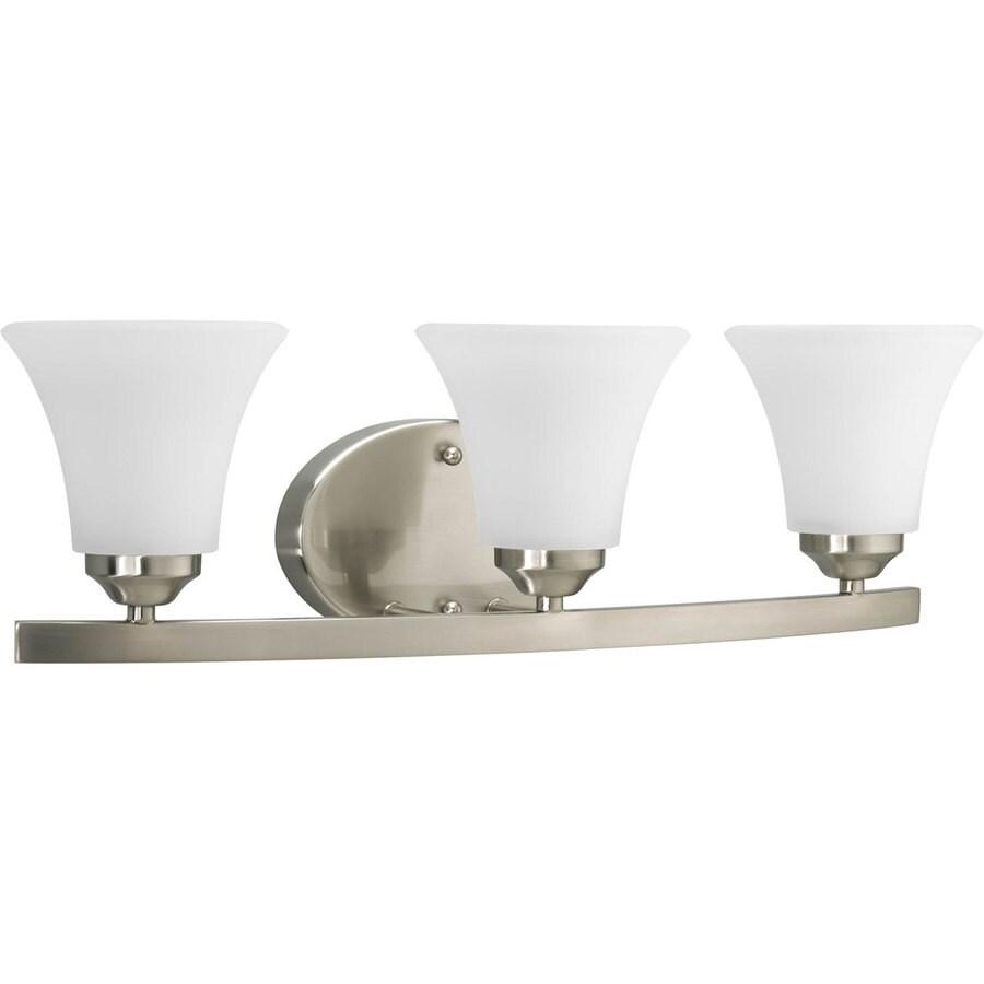 Progress Lighting Adorn 3-Light 6.625-in Brushed Nickel Bell Vanity Light