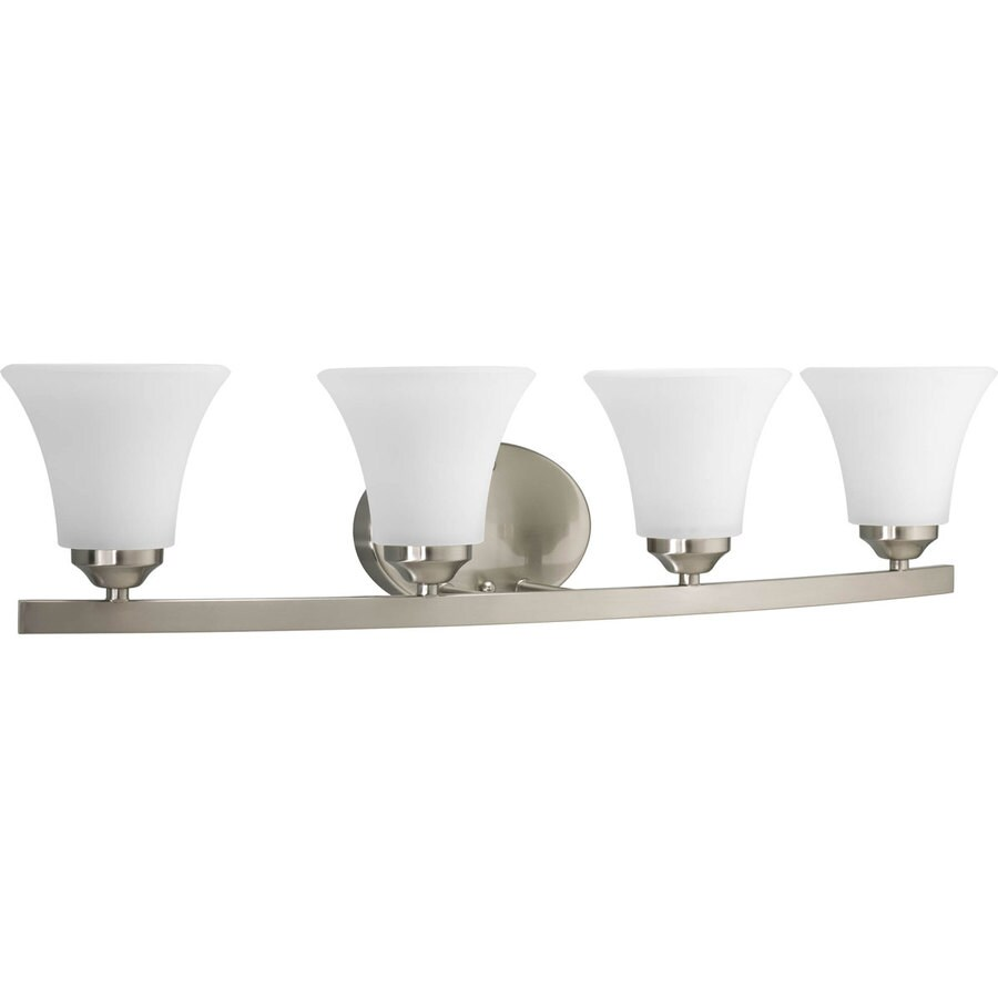 Progress Lighting Adorn 4-Light 6.625-in Brushed Nickel Bell Vanity Light