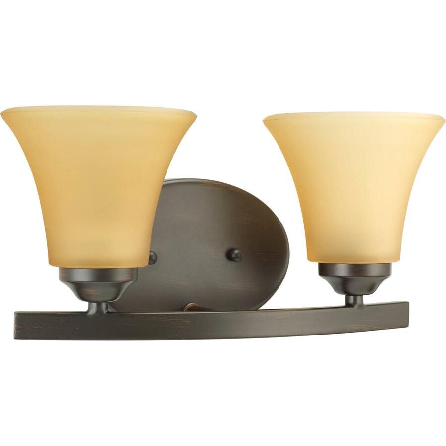 Progress Lighting Adorn 2-Light 6.625-in Antique Bronze Bell Vanity Light