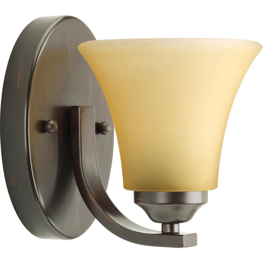 Progress Lighting Adorn 1-Light 6.75-in Antique Bronze Bell Vanity Light