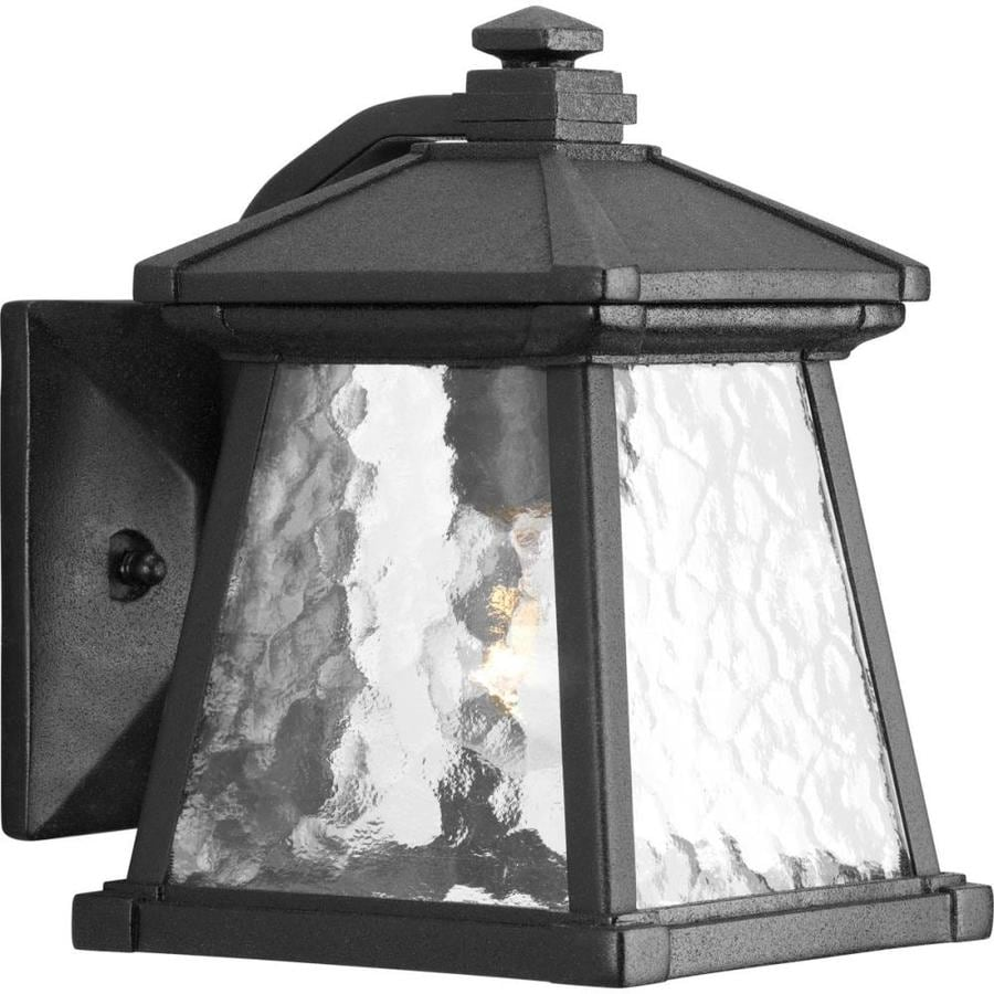 Progress Lighting Mac 8.5-in H Black Outdoor Wall Light
