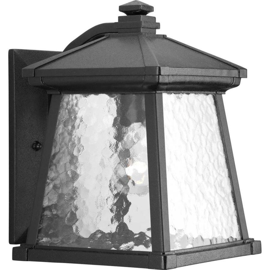 Progress Lighting Mac 12.25-in H Black Outdoor Wall Light