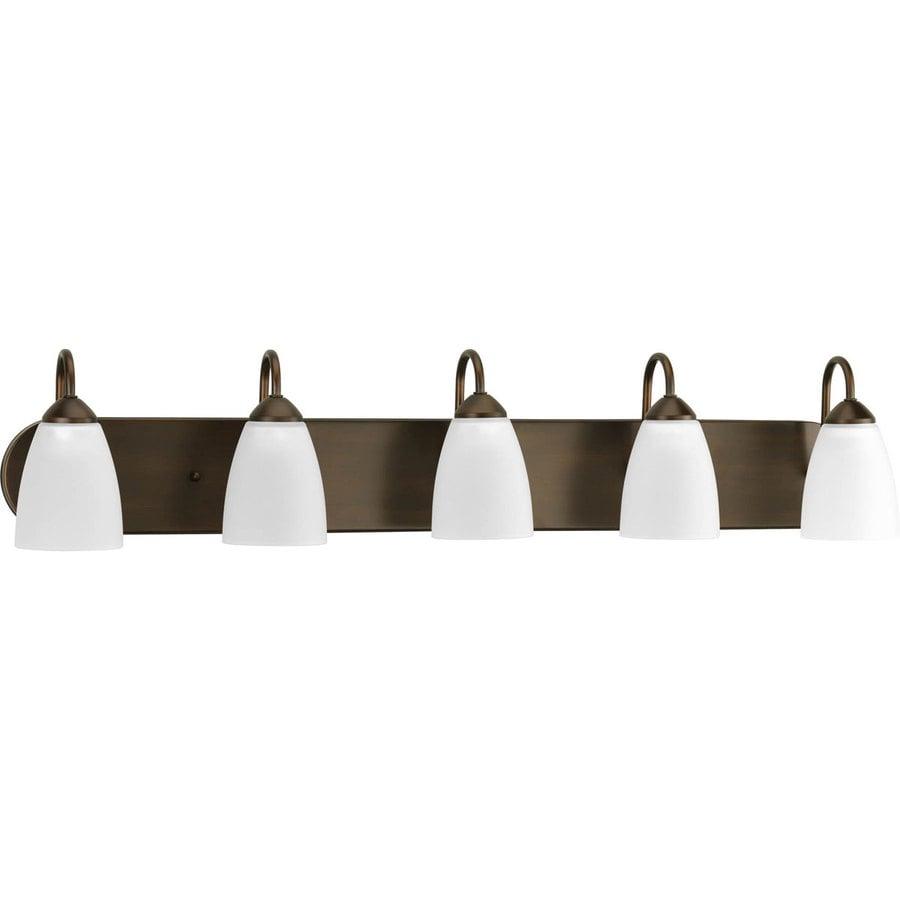 Progress Lighting Gather 5-Light Antique Bronze Cone Vanity Light