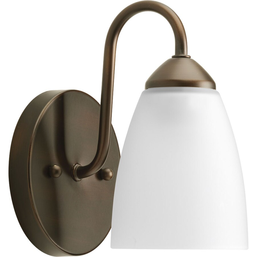 Progress Lighting Gather 1-Light 7.5-in Antique Bronze Cone Vanity Light