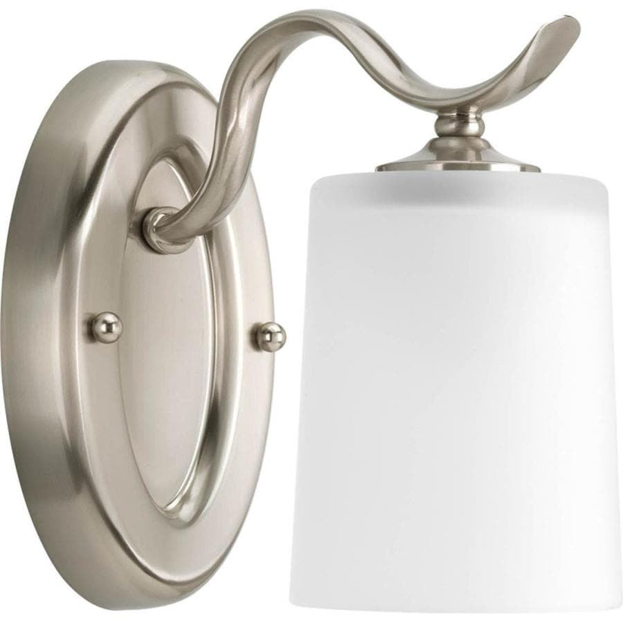 Progress Lighting Inspire 1-Light 7.5-in Brushed nickel Drum Vanity Light