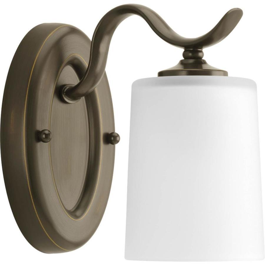 Progress Lighting Inspire 1-Light 7.5-in Antique Bronze Drum Vanity Light
