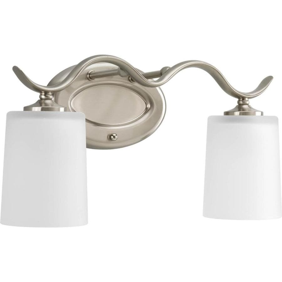 Shop Progress Lighting Inspire 2 Light 8 5 In Brushed Nickel Drum Vanity Ligh