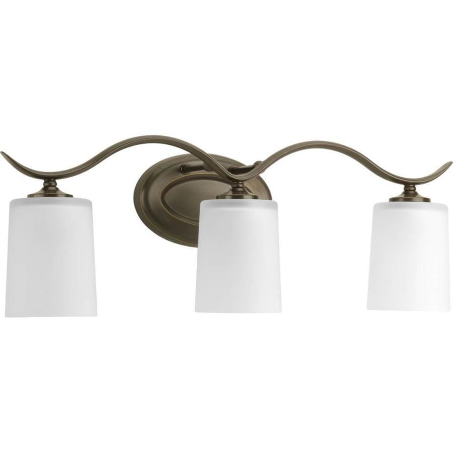 Progress Lighting Inspire 3-Light 8.5-in Antique Bronze Drum Vanity Light