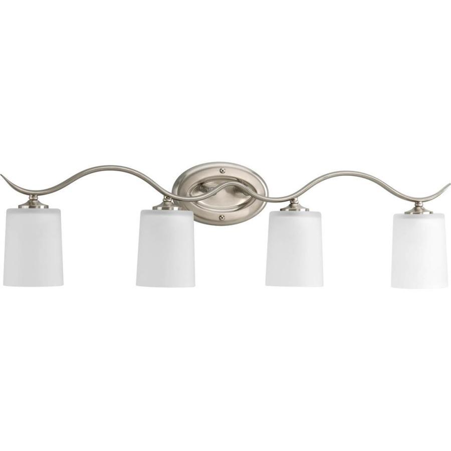 Progress Lighting Inspire 4-Light 8.5-in Brushed nickel Drum Vanity Light