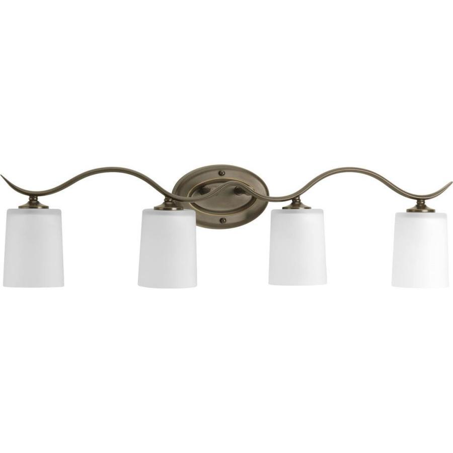 Progress Lighting Inspire 4-Light 8.5-in Antique Bronze Drum Vanity Light