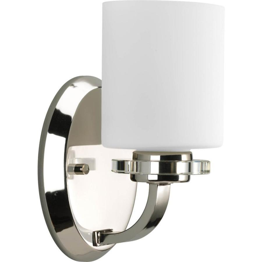 Progress Lighting Nisse 1-Light 9-in Polished nickel Oval Vanity Light