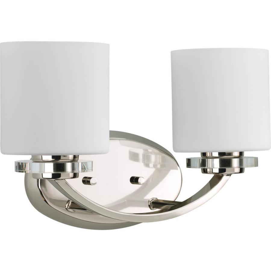 Progress Lighting Nisse 2-Light 9-in Polished nickel Oval Vanity Light