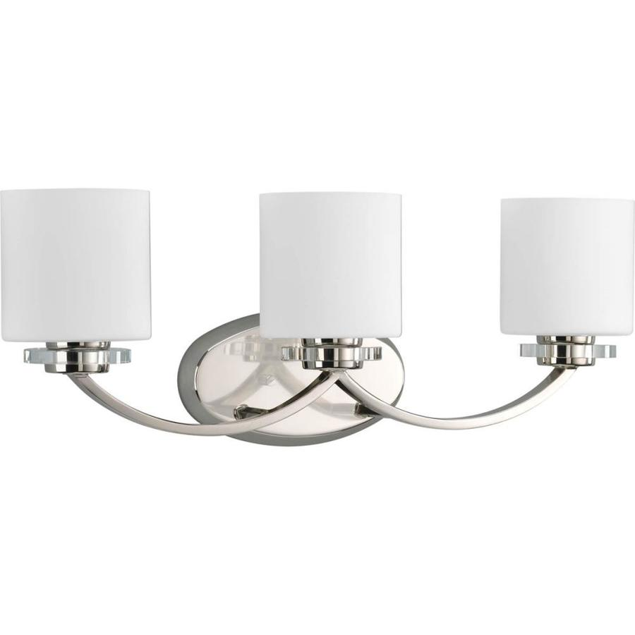 Progress Lighting Nisse 3-Light Polished Nickel Oval Vanity Light