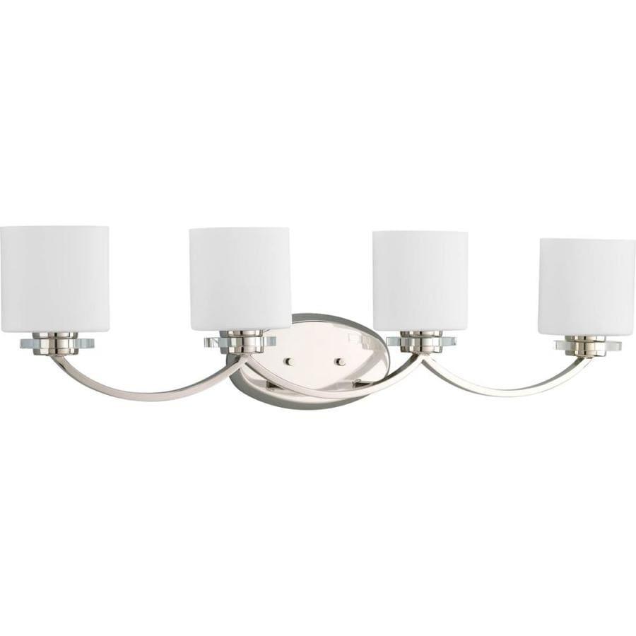 Progress Lighting Nisse 4-Light 9-in Polished Nickel Oval Vanity Light