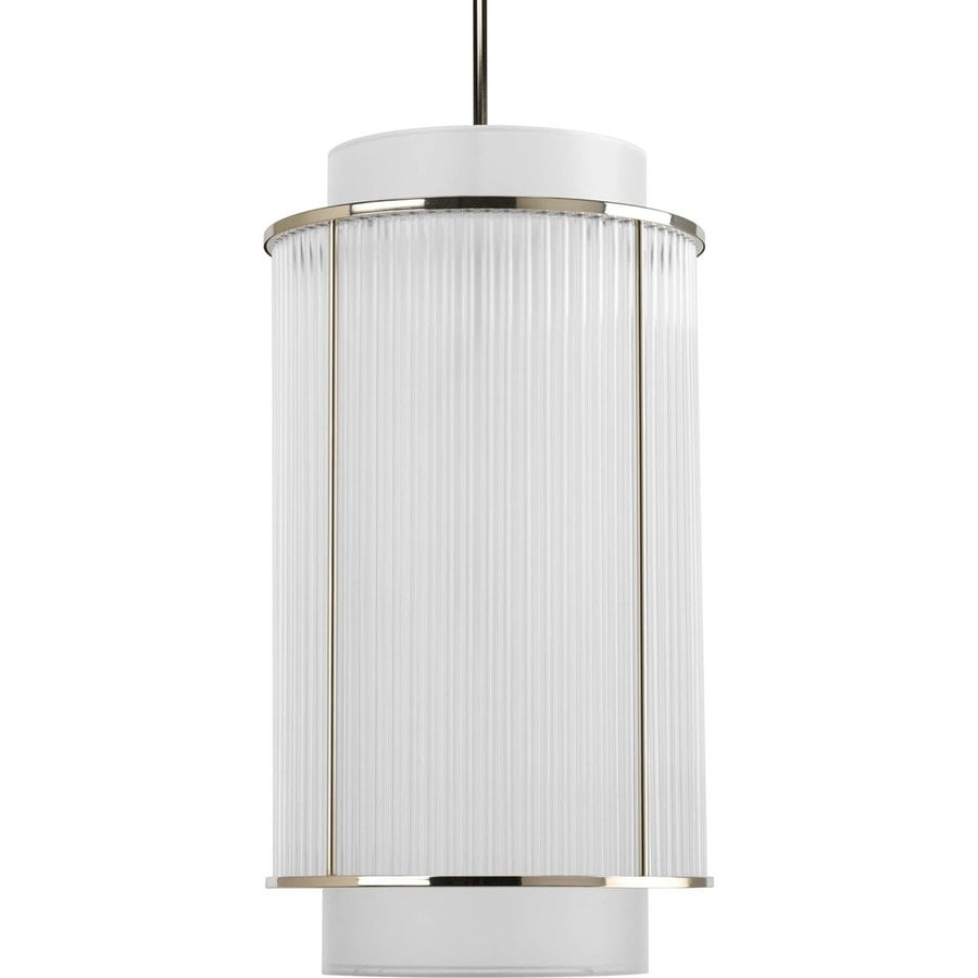 Progress Lighting Nisse 15.125-in 2-Light Polished nickel Shaded Chandelier