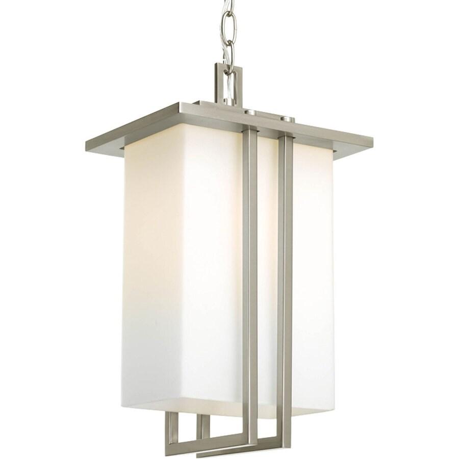 Progress Lighting Dibs 16 5 In H Brushed Nickel Outdoor Pendant Light
