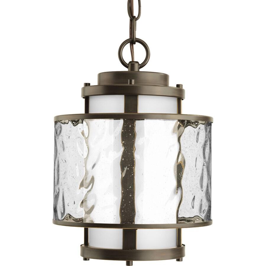 Progress Lighting Bay Court 12.75-in Antique Bronze Outdoor Pendant Light