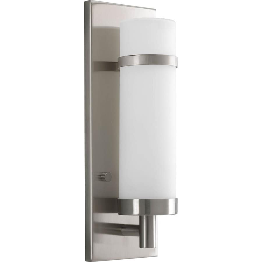 Progress Lighting 4.5-in W 1-Light Brushed nickel Pocket Wall Sconce