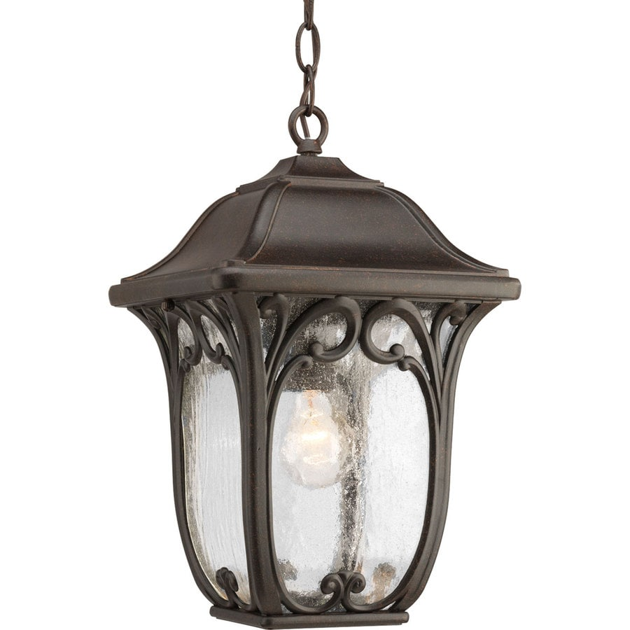 Outdoor Lantern Pendant Lighting : Progress lighting enchant in espresso outdoor