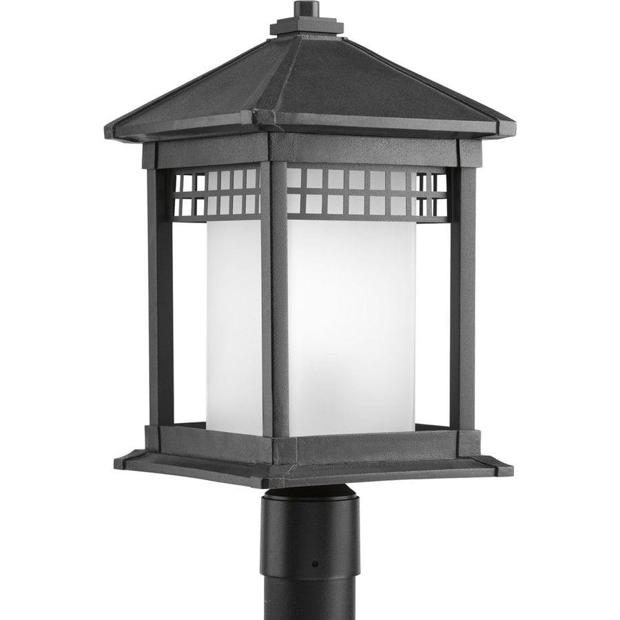 Progress Lighting Merit 18.75-in H Black Post Light