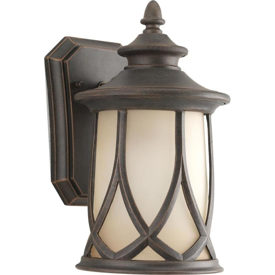 Progress Lighting Resort 10.87-in H Aged Copper Medium