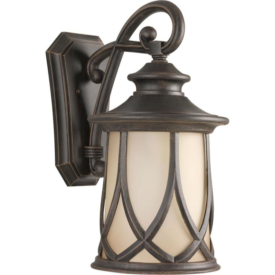 Progress Lighting Resort 19.75-in H Aged Copper Outdoor Wall Light