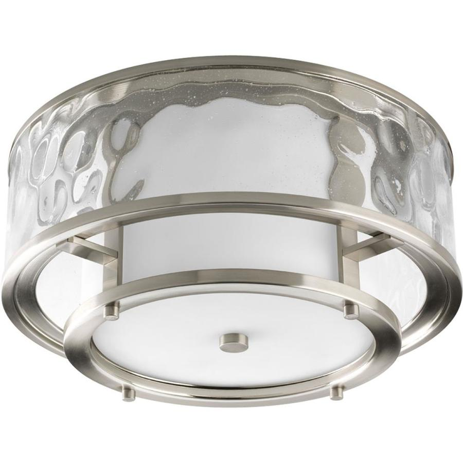 Progress Lighting Bay Court 15 In W Brushed Nickel Outdoor Flush Mount Light