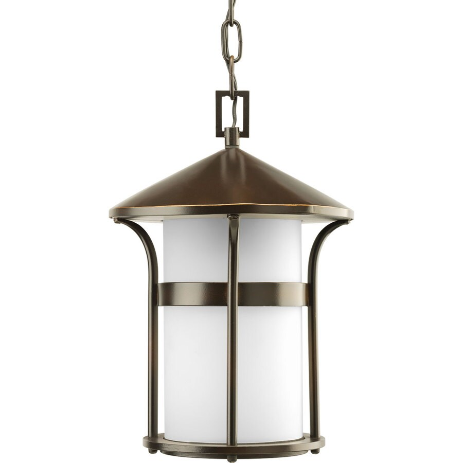 Antique Outdoor Pendant Lighting : Progress lighting welcome in antique bronze