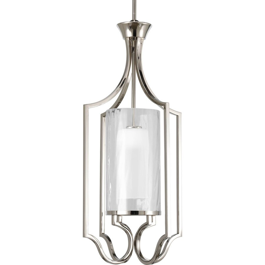 Foyer Pendant Lighting Lowes : Shop progress lighting caress light polished nickel