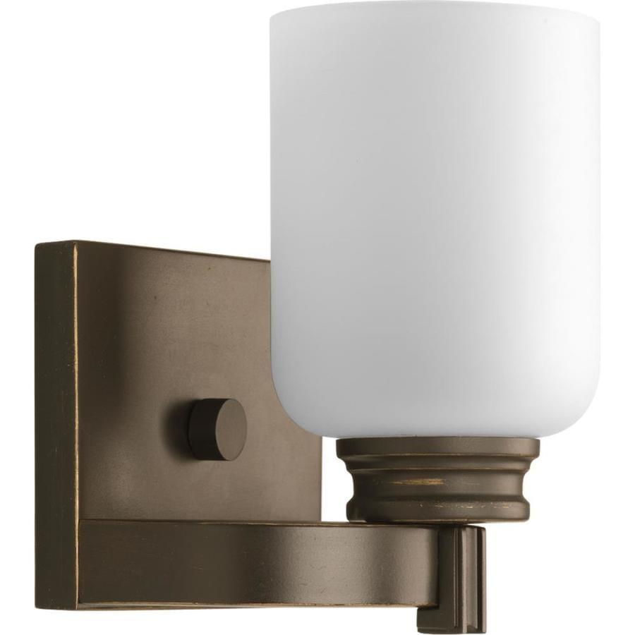 Progress Led Vanity Lights : Shop Progress Lighting Orbitz 1-Light 7.25-in Antique Bronze Cylinder Vanity Light at Lowes.com